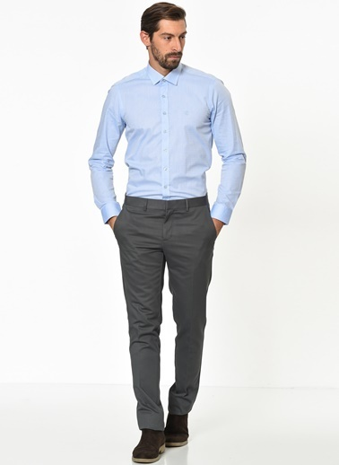 Beymen Business 4B0119100001 Slim Fit Pantolon Non-Iron Füme